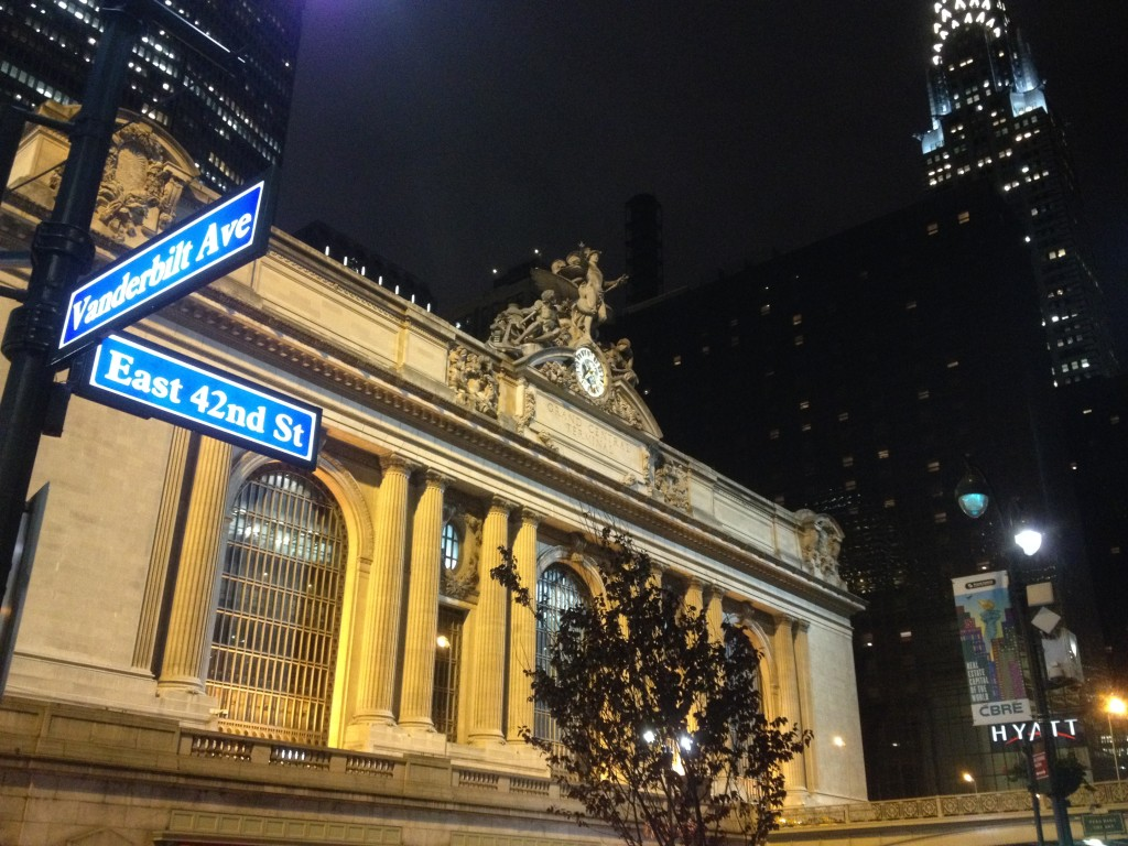Grand Central Station was right next to our hotel.